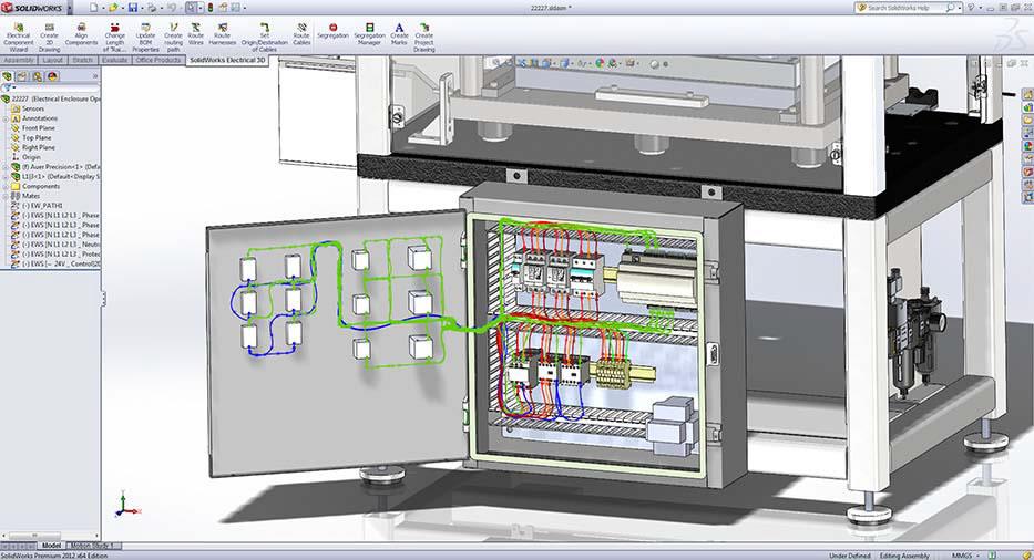 Bản vẽ thiết kế bằng phần mền tủ điều khiển chiếu sáng