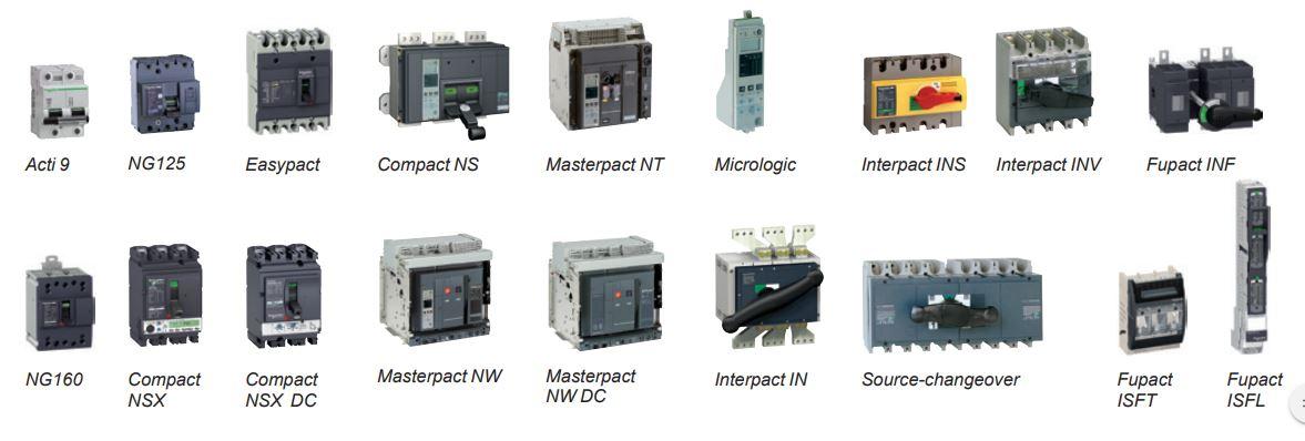 Bảng catalog thiết bị điện Schneider