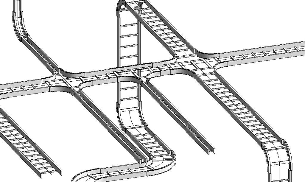 Mô hình 3 d thang máng cáp
