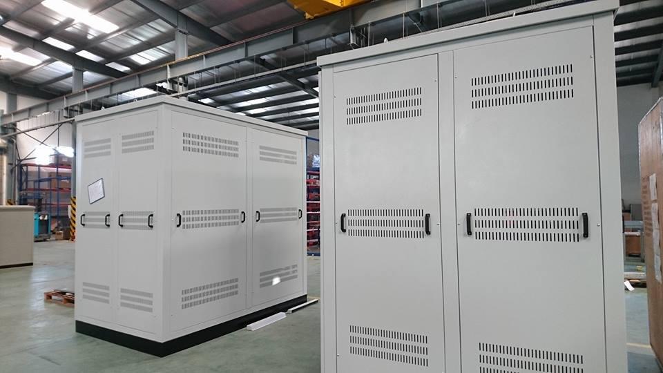 Vỏ tủ điện biến áp khô lưu kho dự án