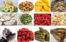 Nông sản, thực phẩm sấy lạnh, đảm bảo được vị tươi ngon.